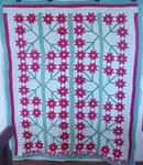 Strippie Folky Sunflower Quilt w/Border       SOLD