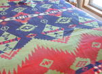Beacon Indian Camp Blanket- Blue, green, red  SOLD