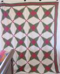 Pine Burr/Feathered Star Quilt Top   SOLD