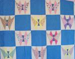 Art Deco -Pieced Butterfly Quilt-Mint