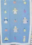 Childs Pictorial Crib Applique Quilt