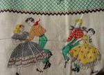 Novelty Feedsack-  Musical-Square Dancers SOLD