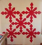 Red/White Traditional Oak Leaf  5 Block Quilt   SOLD