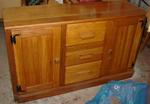 A Brandt Ranch Oak Gun Cabinet Case--unavailable