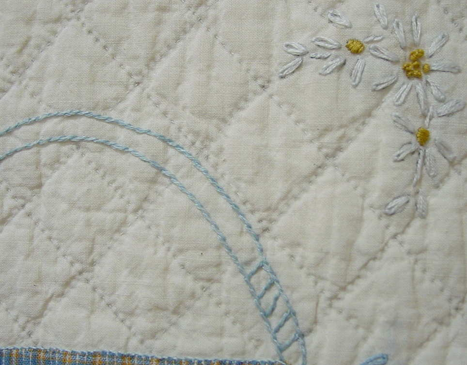 very closeup quilting