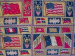 Tobacco Premiums Flag Quilt Top  Sold!