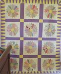Dresden Plate Quilt With Border  SOLD