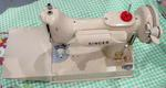 Tan 221 J Singer Featherweight Sewing Machine SOLD