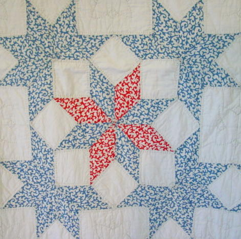 closeup of quilt block