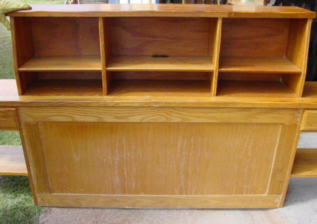 A Brandt Ranch Oak Bookcase Headboard SOLD | Cindy Rennels ...