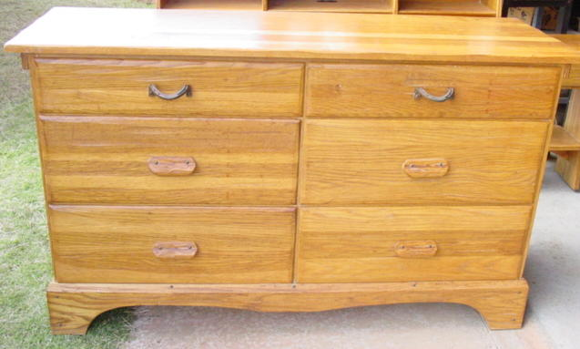A Brandt Ranch Oak Double Dresser Nice Sold Cindy