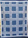 Blue and White Double Irish Chain Quilt  SOLD