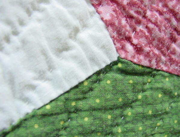 very close view fabric, quilting