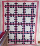 Double Irish Chain Quilt w/Border - SOLD