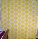 Yellow and White Tumbling Stars Quilt   SOLD