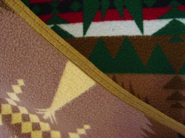 close up of binding and edge