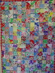 Postage Stamp Doll / Crib Feedsack Quilt