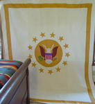 Great Seal Of the United States Eagle Quilt  Sold 10/07