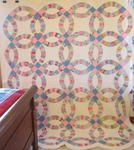 Double Wedding Ring Quilt With Outer Border  Sold!