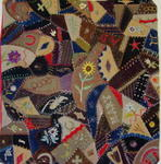 Dated and Signed 1887  Crazy Crib Quilt  Sold