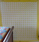 Yellow and White Exquisite Quilt  SOLD