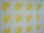 Maple Leaf Quilt-Yellow/White    SOLD
