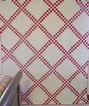 Red & White Double Irish Chain Quilt- SOLD