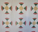 Unusual Circular Saw Pattern  Antique Quilt  SOLD