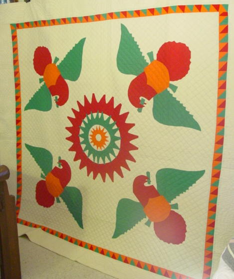 Eagles quilt-  generous in size- displays superbly