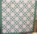 Green/White Chain Variation Quilt  SOLD