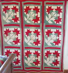 Pieced and Applique Peony Quilt  SOLD