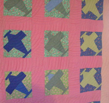 partial view of quilt