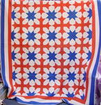 Red/White/Blue Cross and Star Quilt( Exhibit)-  SOLD