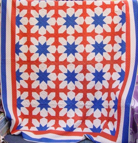 free star red set white quilt and quilts blue patterns plaid