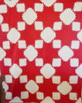 Red and White Feathered Star Quilt  - SOLD