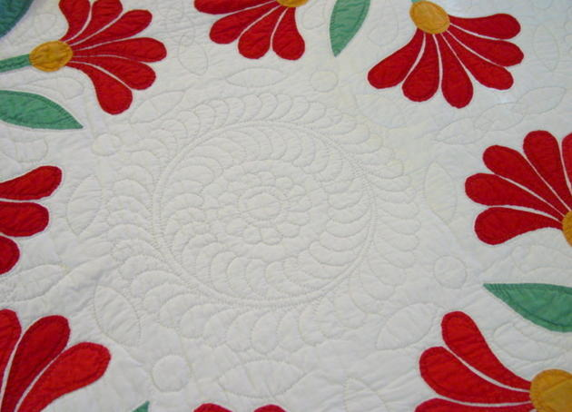 wow, what beautiful quilting patterns