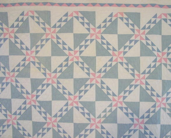 closer view of quilt