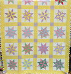 Diamond In a Star or Flying Bats Quilt w/Prairie Points