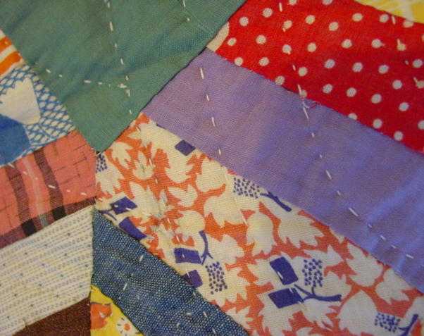 close image of quilting  and fabrics