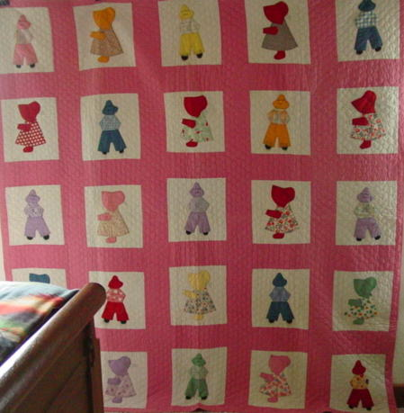 full view of vintage quilt- Boys and Girls