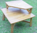 A Brandt Ranch Oak Corner Table