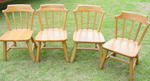 A Brandt Ranch Oak Set of 4 Brunch Chairs  SOLD