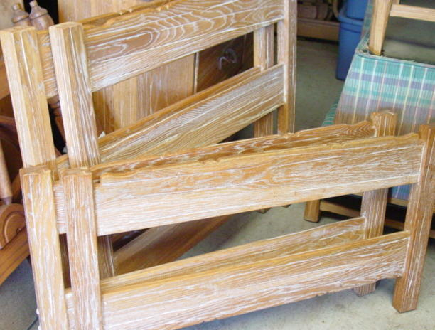 Ranch Oak bunk beds or can be used as twins-singles- could be set together side by side for a king