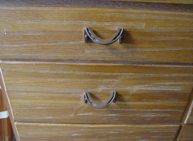 horseshoe drawer pulls - chest of drawers