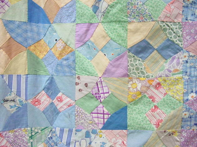 partial view of quilt top