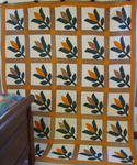 Southern Tulip Applique Quilt with Double Border $1345.
