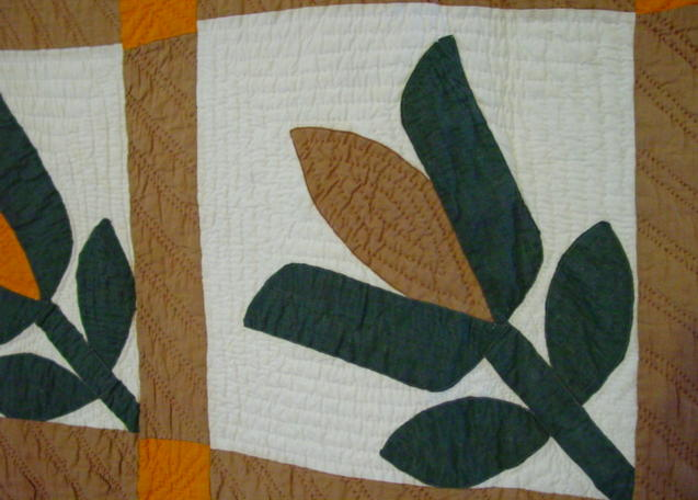 shows the quilting and colors