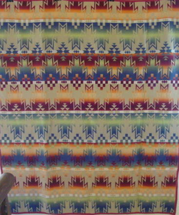 Beacon Indian Camp Blanket-sunset SOLD   Cindy Rennels