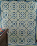 Blue and White Burgoyne Surrounded Quilt
