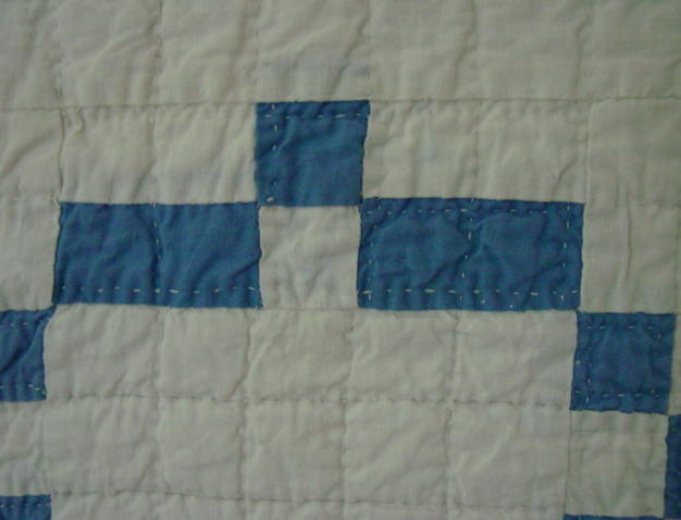 very close view of quilting